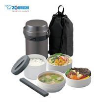 Zojirushi Lunch Jars / ปิ่นโตอาหารสูญญากาศเก็บความร้อน 1.23 ลิตร รุ่น SL-JAF14 HG - สีเทาดำ