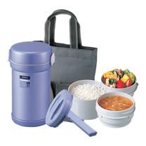 Zojirushi Lunch Jars ปิ่นโตอาหารสุญญากาศเก็บความร้อน 0.84 ลิตร รุ่น SL-NC09 AA - สีม่วง