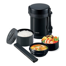 Zojirushi Lunch Jars ปิ่นโตอาหารสูญญากาศเก็บความร้อน 1.27 ลิตร รุ่น SL-GH18 BA - สีดำ