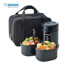 Zojirushi Food Jars กระติกอาหารสุญญากาศเก็บความร้อน/เย็น 0.35 ลิตร รุ่น SW-EZE35 BA - สีดำ