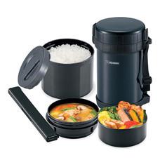 Zojirushi Lunch Jars ปิ่นโตอาหารสูญญากาศเก็บความร้อน 1.47 ลิตร รุ่น SL-XE20 AD - สีดำ