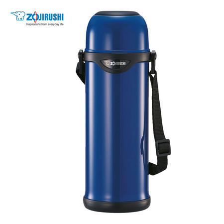 Zojirushi Bottles with cup/ กระติกน้ำสุญญากาศเก็บความร้อน/เย็น ฝาเป็นถ้วย 1.0 ลิตร รุ่น SJ-TG10 AA - สีน้ำเงิน