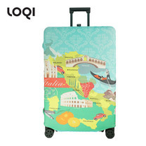 LOQI ผ้าคลุมกระเป๋า รุ่น Urban Italy Size L (28-32 นิ้ว)