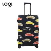 LOQI ผ้าคลุมกระเป๋า รุ่น Urban Germany Beetle Size L (28-32 นิ้ว)