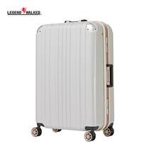 LEGEND WALKER กระเป๋าเดินทาง รุ่น 5122-62 ขนาด 25 นิ้ว - สี White Carbon