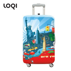 LOQI ผ้าคลุมกระเป๋า รุ่น Urban New York Size L (28-32 นิ้ว)