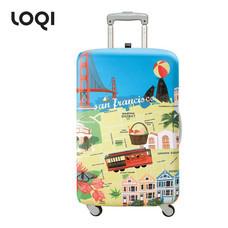 LOQI ผ้าคลุมกระเป๋า รุ่น Urban San Francisco Size L (28-32 นิ้ว)