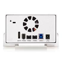 "Akitio Taurus Super-S3 LCM กล่องอ่านฮาร์ตดิสก์ 2 ช่อง ขนาด 3.5"" พร้อม RAID 0/1 พอร์ต USB 3.0 + eSATA + Firewire 400/800"
