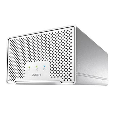 Akitio Neutrino Thunder D3 กล่องอ่าน HDD/SSD 2 ช่อง พอร์ต Thunderbolt + USB 3.0