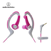 Audio Technica SONIC SPORTS Easy Fit Earphones for iPhone/Smartphones ATHSPORTS1IS - Pink