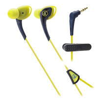 Audio Technica SONIC SPORTS Comfort Fit with Mic ATHSPORTS2 - Navy/Yellow