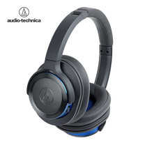 หูฟัง Audio Technica ATH-WS660BT Wireless Headphone Solid Bass - Grey/Blue