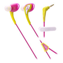 Audio Technica SONIC SPORTS Comfort Fit with Mic ATHSPORTS2 - Yellow/Pink
