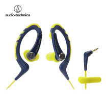 Audio Technica SONIC SPORTS Easy Fit Earphones for iPhone/Smartphones ATHSPORTS1IS - Navy Yellow