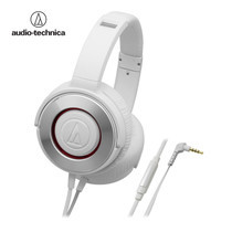 audio-technica ATH-WS550iS Solid Bass Headphone W/Remote & Mic for iPhone& Smartphone