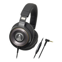 audio-technica ATH-WS1100iS Solid Bass/Hi-res Headphone W/Remote mic for iPhone& Smartphone - Black