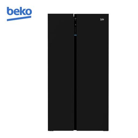 Beko ตู้เย็น SIDE BY SIDE (INVERTER) 2 ประตู ขนาด 22.6Q รุ่น GN-163130 ZGB (Black)