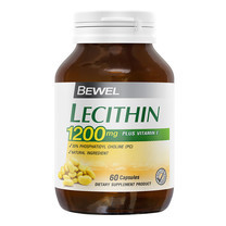 BEWEL Lecithin 1200 mg Plus Vitamin-E (60 แคปซูล)
