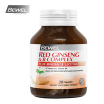 BEWEL Red Ginseng & B Complex plus Mineral & Lecithin (30 แคปซูล)