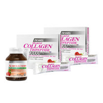 BEWEL Marine Collagen (14 g) Pack 2 + BEWEL Acerola Cherry 1200 & Berry Mixed Extract 1200 mg (45 เม็ด) Free! ตลับใส่ยา