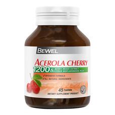 BEWEL Acerola Cherry 1200 & Berry Mixed Extract 1200 mg (45 เม็ด) Buy 3 Get 1