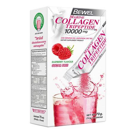 BEWEL Marine Collagen Tripeptide 10000 mg Raspberry (14 g x 5 pcs)