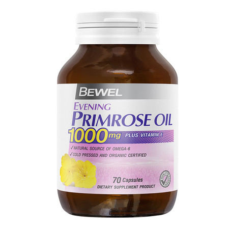 BEWEL Evening Primrose OIL 1000 mg Plus Vitamin-E (70 แคปซูล)
