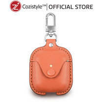 กระเป๋า Cozi Leather Case For Apple AirPods (Orange)