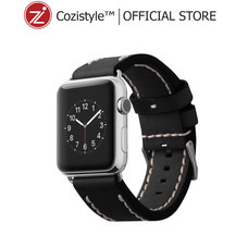 Leather Band for Apple Watch (Black) for 42/44mm