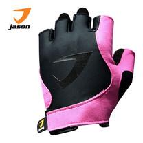 JASON FITNESS GLOVES ถุงมือฟิตเนส รุ่น X-BURNING SASSY (ไซส์ S) - สีดำ/ชมพู