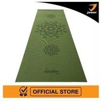 Jason เจสัน เสื่อโยคะลายคลาสสิค รุ่น Lotus Yoga Mat (Green) ทำจาก PVC (Limited Edition) หนา 6 mm