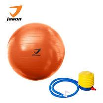 JASON ลูกบอลโยคะ GYM BALL FITNESS EXERCISE 55 cm - ORANGE ฟรี! ที่สูบลม ภายในกล่อง เหมาะสำหรับผู้เล่นทุกวัย