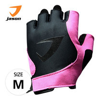 JASON FITNESS GLOVES ถุงมือฟิตเนส รุ่น X-BURNING SASSY (ไซส์ M) - สีดำ/ชมพู