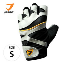 JASON FITNESS GLOVES ถุงมือฟิตเนส รุ่น X-BURNING (ไซส์ S) - สีดำ/เทา