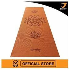 Jason เจสัน เสื่อโยคะลายคลาสสิค รุ่น Lotus Yoga Mat (Orange) ทำจาก PVC (Limited Edition) หนา 6 mm