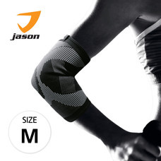 Jason เจสัน ผ้าซัพพอร์ตข้อศอก ยืดหยุ่นได้ 360 องศา รุ่น Elbow Support Black Size M
