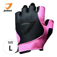 JASON FITNESS GLOVES ถุงมือฟิตเนส รุ่น X-BURNING SASSY (ไซส์ L) - สีดำ/ชมพู