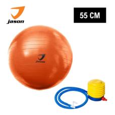 JASON ลูกบอลโยคะ GYM BALL FITNESS EXERCISE 55 cm - ORANGE ฟรี! ที่สูบลม ภายในกล่อง เหมาะสำหรับผู้เล่นทุกวัย JS0535