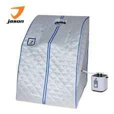 JASON ตู้อบ ซาวน่า PORTABLE STEAM SAUNA JS0373 สีเงิน มาพร้อมหม้อผลิตไอน้ำ สามารถตั้งเวลาได้