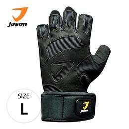 JASON FITNESS GLOVES ถุงมือฟิตเนส รุ่น X-CRAFT (ไซส์ L) - สีดำ