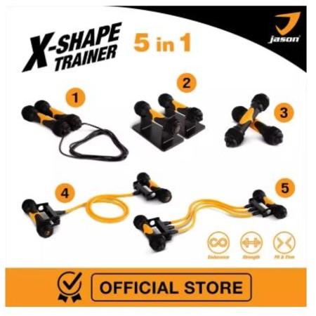 Jason X-Shape Trainer อุปกรณ์สำหรับออกกำลังกายครบทุกส่วน 5in1 (Fitness Starter Set) JS0545