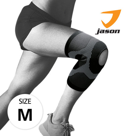 Jason เจสัน ผ้าซัพพอร์ต หัวเข่า แบบเปิด รุ่น Open Knee Black Size M