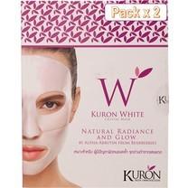 Kuron แผ่นมาส์กหน้า สูตร White Crystal Mask [Packx2]
