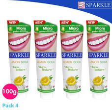(แพ็ค 4) Sparkle ยาสีฟัน สูตร White Lemon soda SK0069 ขนาด 100 g.