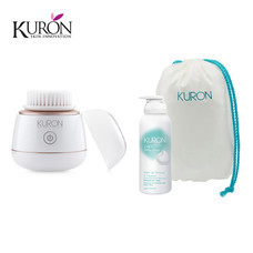 Kuron แปรงทำความสะอาดผิวหน้า Mini Sonic Brush KU0139 + Whip Foam 2in1 (170 ml) รุ่น KU0153 + กระเป๋าอเนกประสงค์ (KUZ006) Item KU0163