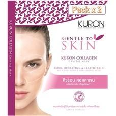 [Packx2] - KURON แผ่นมาส์กหน้า สูตร Collagen Crystal Mask RN0001 สำหรับผู้มีปัญหาหน้าโทรม นอนดึก