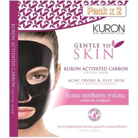 Kuron แผ่นมาส์กหน้า สูตร Activated Carbon Crystal Mask [Packx2]