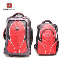 Swiss Gear Double Backpack with Trolley รุ่น KW-026 - Red