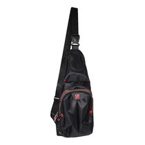 Swiss Gear กระเป๋าสะพายหน้า-หลัง รุ่น KW-113/12/BC- Black/Coffee