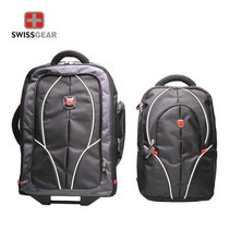 Swiss Gear Double Backpack with Trolley รุ่น KW-026 - Black